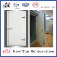 Half buried swinging door, cold storage door