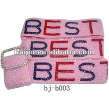 2014 hot sell beaded belt