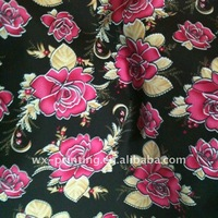 2012 fashion garment heat transfer printing paper floral printed fabric