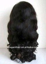 """18"""",1b#,body wave,indian remy hair full lace wig"""