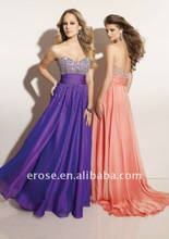 PD-A070 Fully Beaded Sweetheart Chiffon Any Colour New Fashion Prom Dress Hong Kong