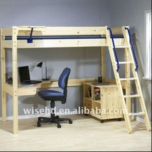( WJZ-B28 ) solid pine wood modern wood bed