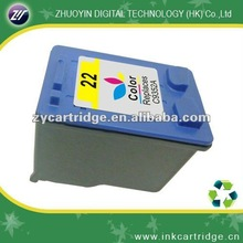 Good quality color remanufactured inkjet cartridge for hp 22