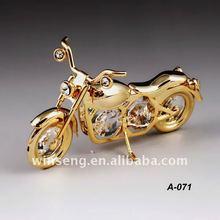 24K gold plated class motorbike with swarovski elements WS328-071