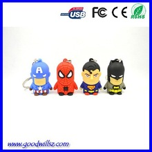 2015 Hot Sale Innovate Usb Stick for promotional gift,Captian American,Spider Man Pen Drive