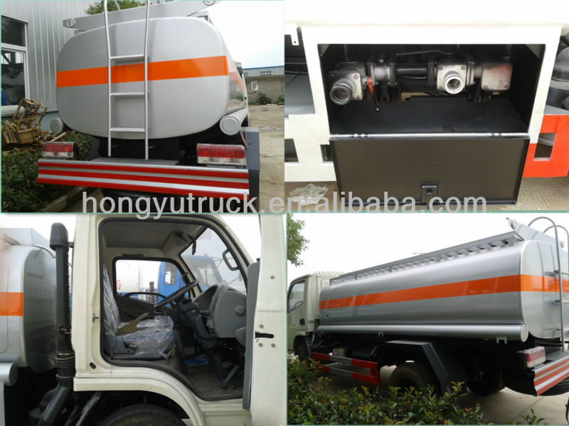 left hand and right hand drive 4X2 dongfeng truck 3000L to 5000L oil tanker