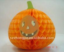 tissue paper pumpkin for halloween