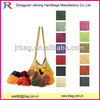 Colorful light cotton mesh shopping bags