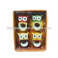 Wholesale ceramic owl kids chopstick holder