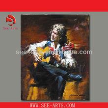 hanmade musical instrument oil painting SJD-015