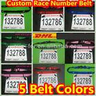 Custom Triathlon Race Number Belt, Custom Marathon Race Belt