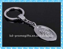 2013 new design keyring starfish custom metal keychain DKMK0556