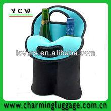 Wholesale neoprene two bottles wine tote bags