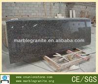 polished brown prefabricated granite countertop