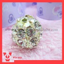round rhinestone ball button