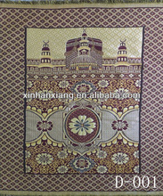 D-001 beautiful design of muslim prayer mat