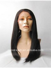 "2015 hot selling Best price 22"" double drawn silky straight malaysian Virgin hair full lace wig"