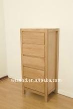 (W-B-0035) oak wooden drawer chest
