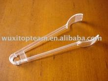 """7"""" PS disposable mini plastic serving salad tong"""