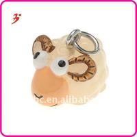 Cheap lucky Resin 3D Finish sheep animal bracelet charms (H100089)