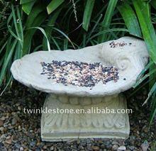 Garden Marble Shell Birdbath
