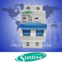 Thailand type C45 2 POLE MCB switch DZ47