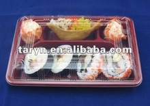 Plastic compartment food container for Sushi
