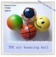 TPR material Rubber bouncing ball, Led bouncing ball