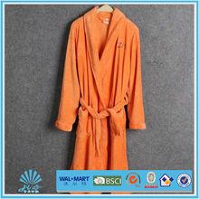 Hot Sale Bathrobe 100% Polyester Plain Coral Fleece Bathrobe