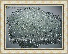 white round semi-precious diamond cz gems