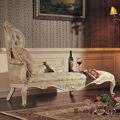 Muebles de dormitorio italiano- de madera maciza tallada a mano de la hoja gilding chaise lounge