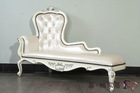 french louis style furniture - solid wood hand carving cracking paint chaise lounge