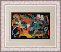 Abstract moving high quality framed picture