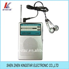 K-702 small am fm radio with earphones