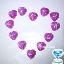heart cabochon star ruby made in wuzhou