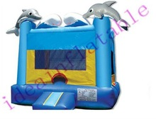 inflatable dolphin bouncy castle, inflatable toys bc175