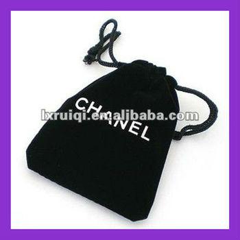 2013drawstring soft velvet mobile bag