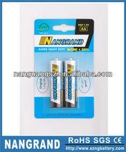 r6p um3 1.5v aa heavy duty battery