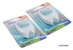 FDA Nylon/PTFE/Nylon unwaxed&waxed dental floss-50m