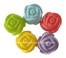 CM-055 colorful rose shape silicone cupcake