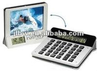 Desktop Calculator With Photo Frame Calculator With Clock