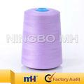 100% de coser de poliéster hilo hilado