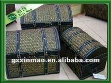 3 pcs a set,handmade storage trunk for home usage