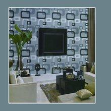 Geometric figure vinyl/pvc wallpaper