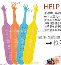 alibaba express Help me Bookmark PP Bookmark newest and creative help me plastic bookmark