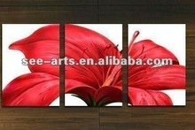modern abstract group flower oil painting
