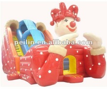 giant luxurious inflatable red clown dry slide 2012