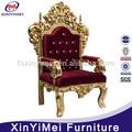 silla de rey para la decoración de la boda