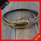 Fashionable skinny gold belt / women belt