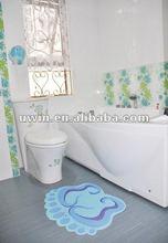 Non skid plastic bath toilet mat,plastic bath mat